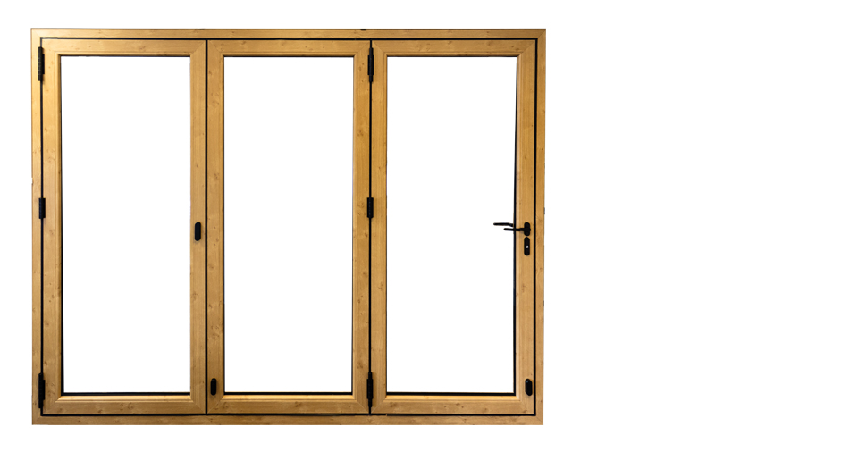 golden oak imagine bi folding door