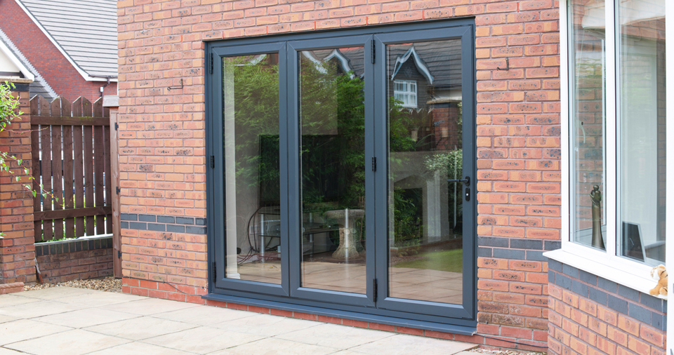 imagine bi fold door grey