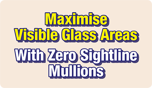 Zero Sightline Mullion