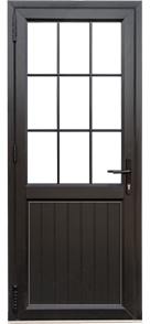 Single door with midrail